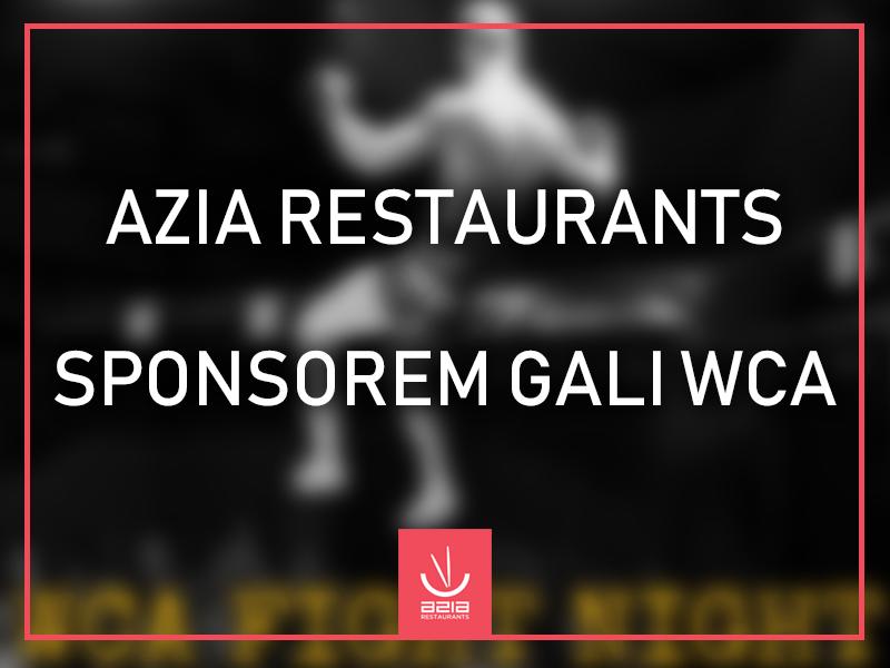 Azia Restaurants sponsorem Gali WCA Fight Night