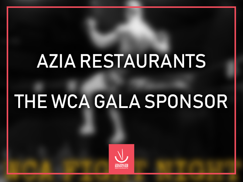 Azia Restaurants the WCA Fight Night Gala sponsor