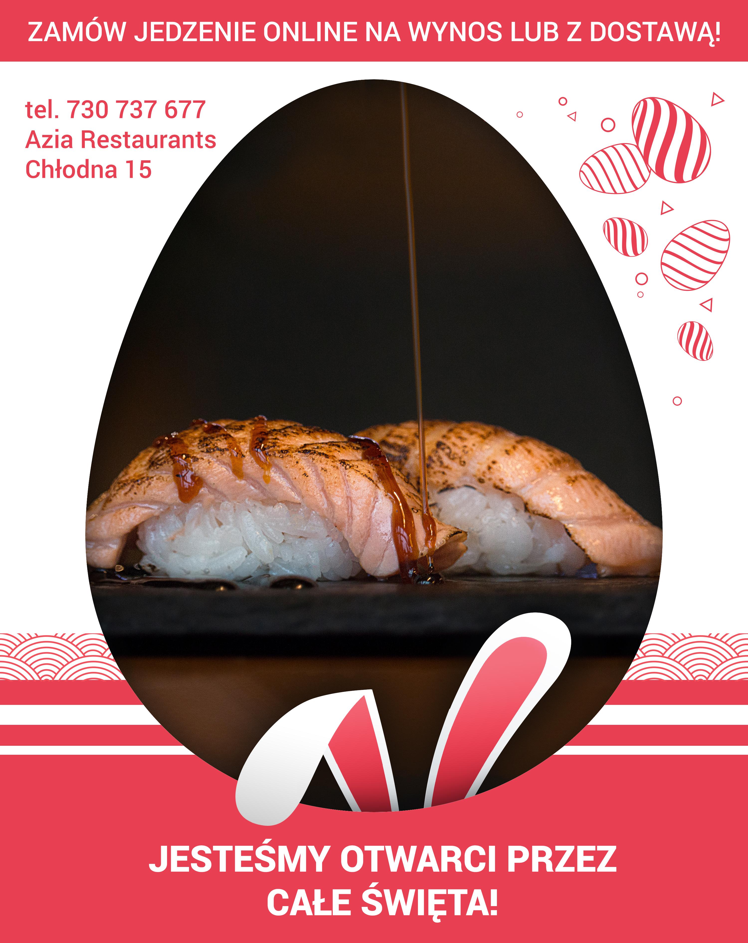 Dostarczamy jedzenie nawet w Święta Wielkanocne!